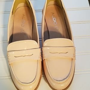 Aldo pink patterned leather shoes